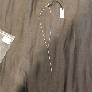 NWT Dogeared Jewelry Beaded Y Crystal SS Necklace